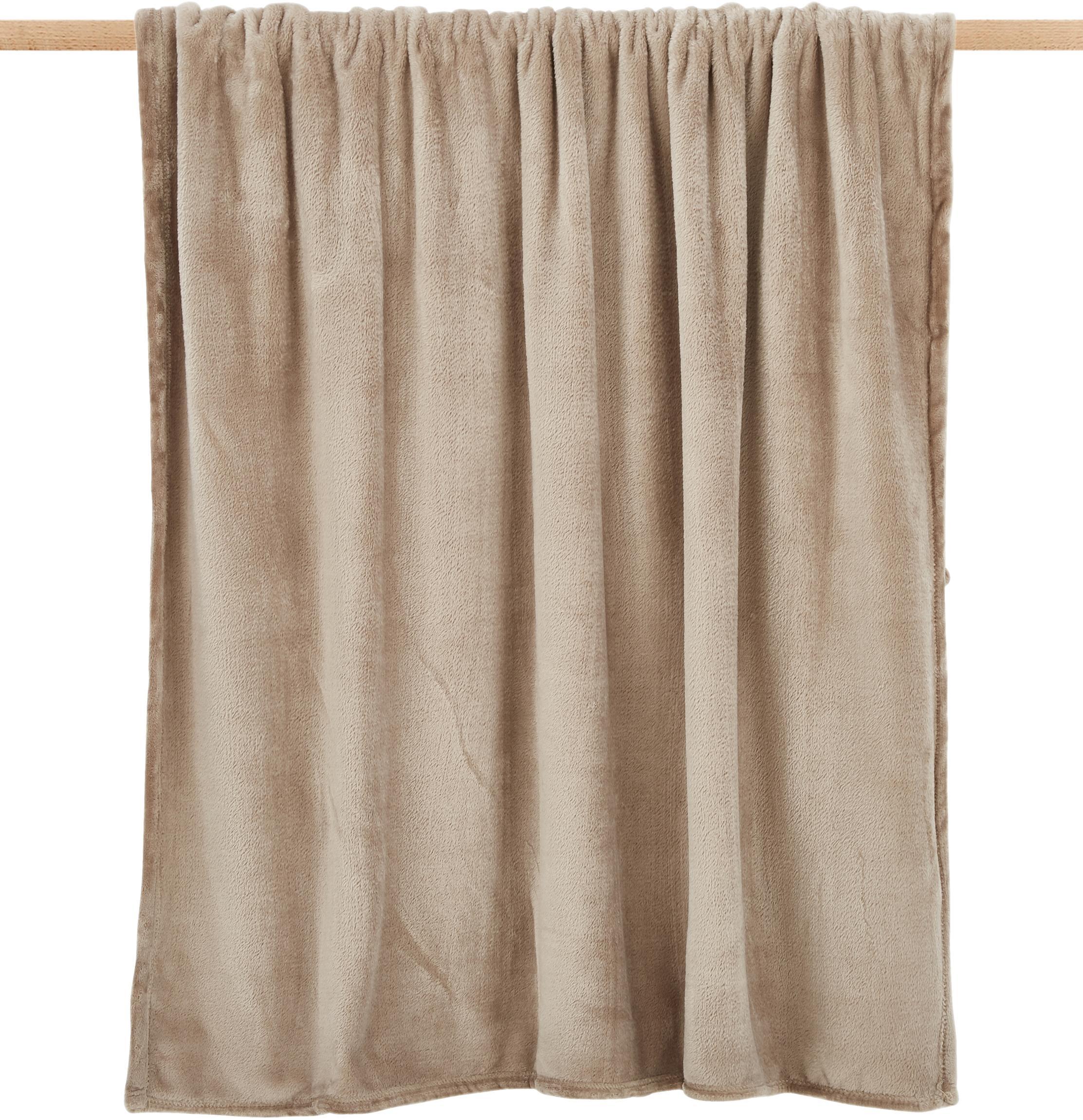 Manta suave de tela polar Doudou, Poliéster, Gris claro, An 130 x L 160 cm