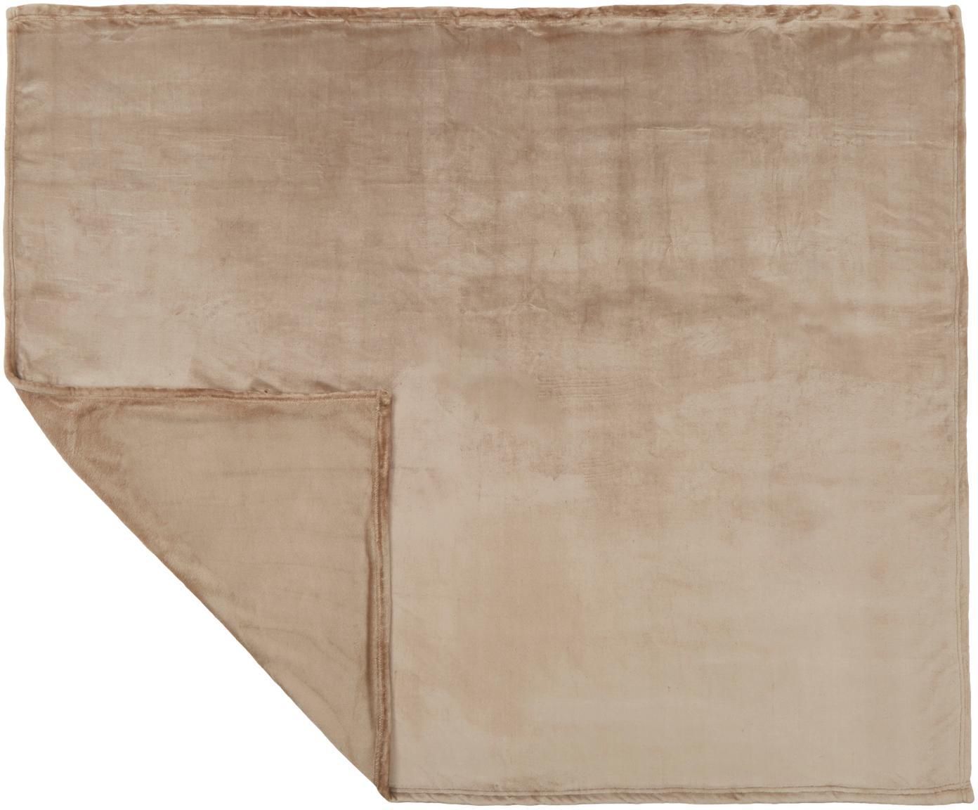 Miękki pled z polaru Doudou, Poliester, Jasny szary, S 130 x D 160 cm