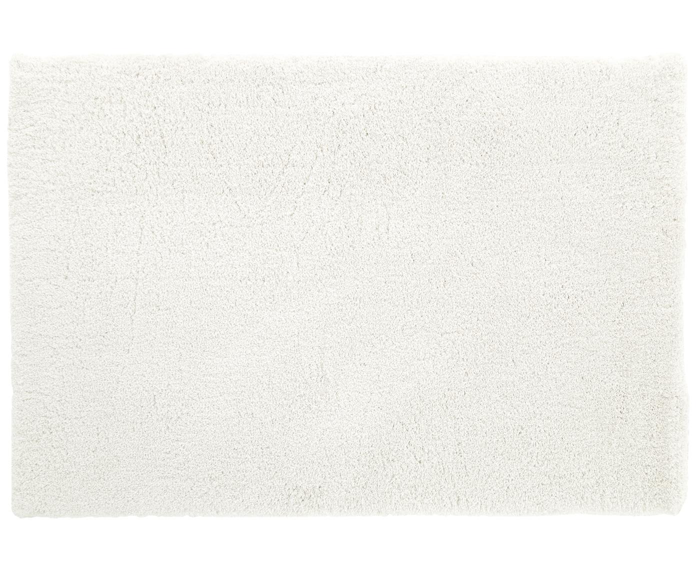 Pluizig hoogpolig vloerkleed Leighton in crèmekleur, Bovenzijde: 100% polyester (microveze, Onderzijde: 100% polyester, Crèmekleurig, B 300 x L 400 cm (maat XL)