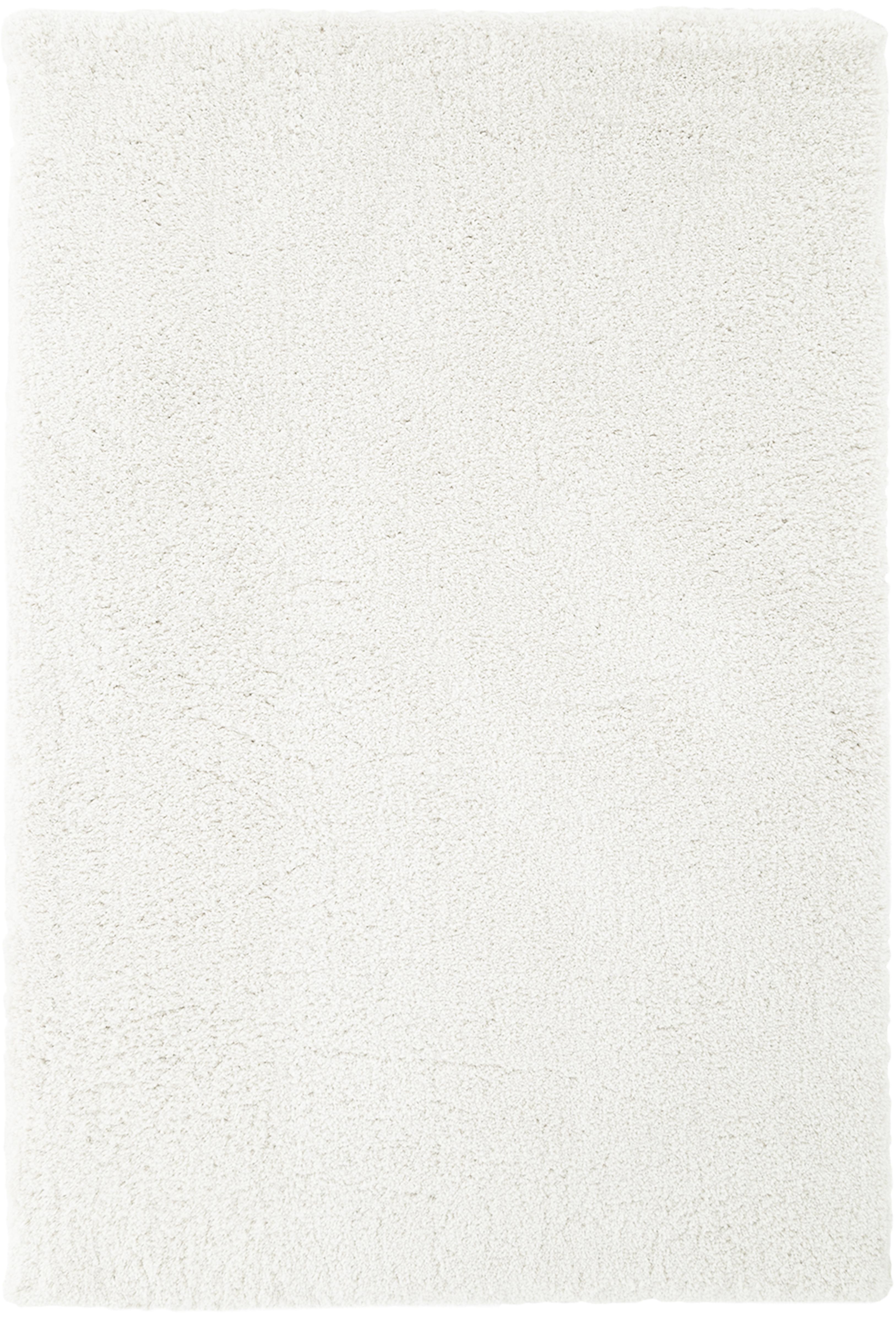 Pluizig hoogpolig vloerkleed Leighton in crèmekleur, Bovenzijde: 100% polyester (microveze, Onderzijde: 70% polyester, 30% katoen, Crèmekleurig, B 160 x L 230 cm (maat M)