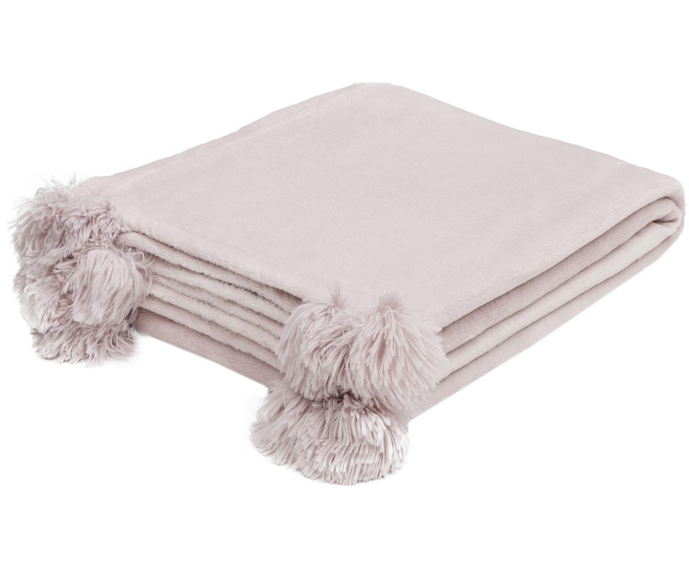 Fleece plaid Bomla, Polyester, Roze, 130 x 170 cm