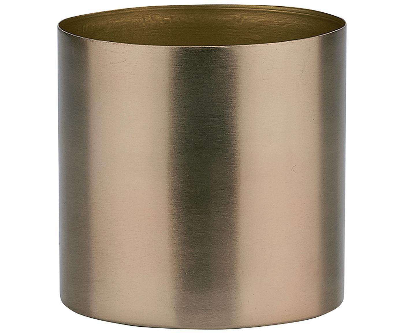 Übertopf Stella, Metall, beschichtet, Bronzefarben, Ø 11 x H 11 cm
