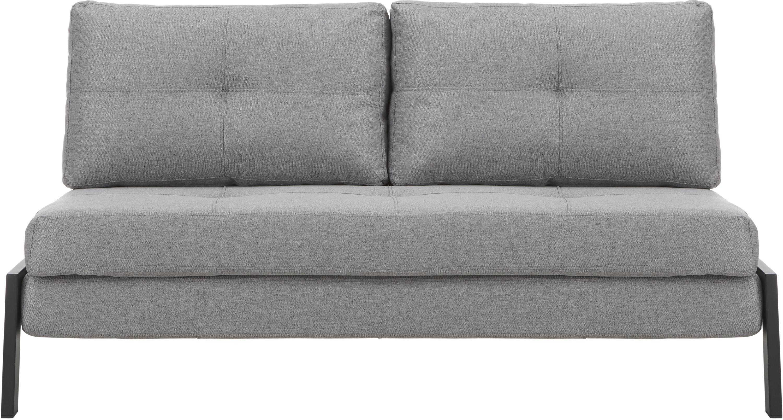 Sofá cama Edward, Tapizado: 100%poliéster Resistenci, Tejido gris claro, An 152 x F 96 cm