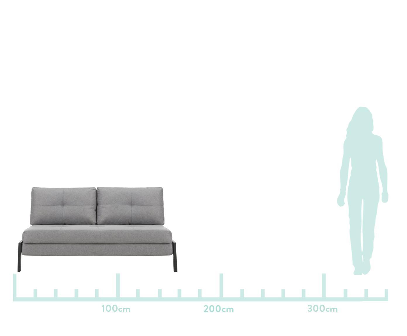 Schlafsofa Edward, Bezug: 100% Polyester 40.000 Sch, Webstoff Hellgrau, B 152 x T 96 cm