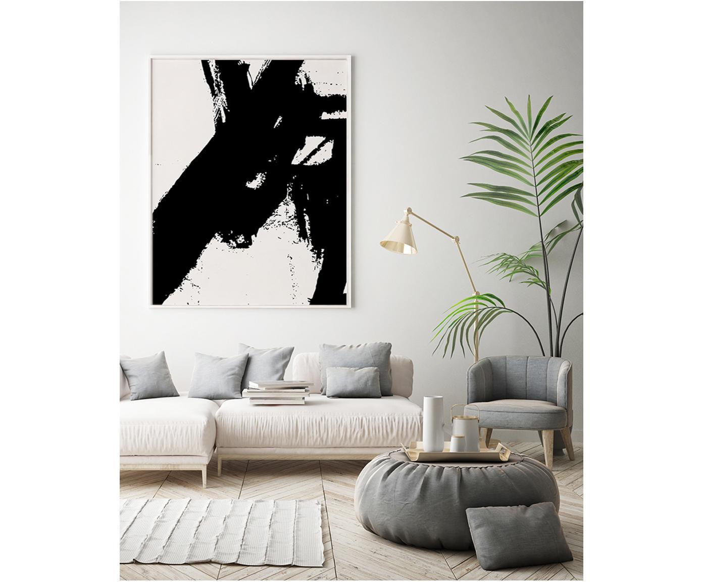 Gerahmter Leinwanddruck Franz Kline, Bild: Digitaldruck auf Leinen (, Rahmen: Holz, beschichtet, Schwarz, Weiss, 82 x 102 cm