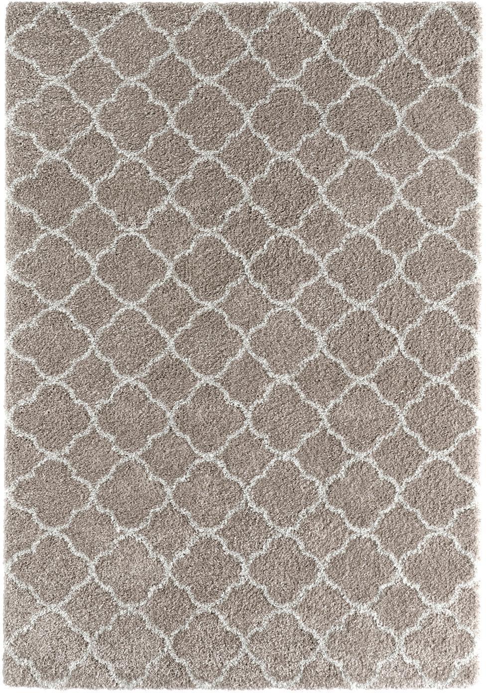 Hochflor-Teppich Grace in Creme/Beige, Beige, Cremefarben, B 120 x L 170 cm (Größe S)