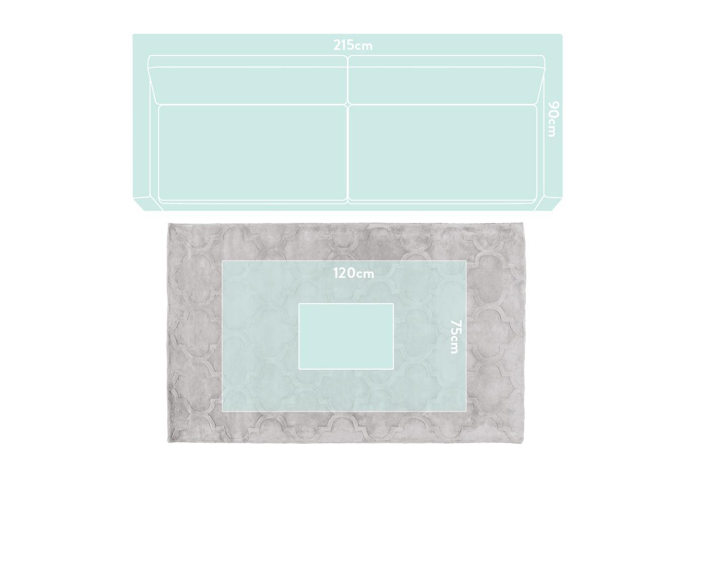 Ręcznie tuftowany dywan z wiskozy Magali, Jasny szary, S 120 x D 180 cm (Rozmiar S)