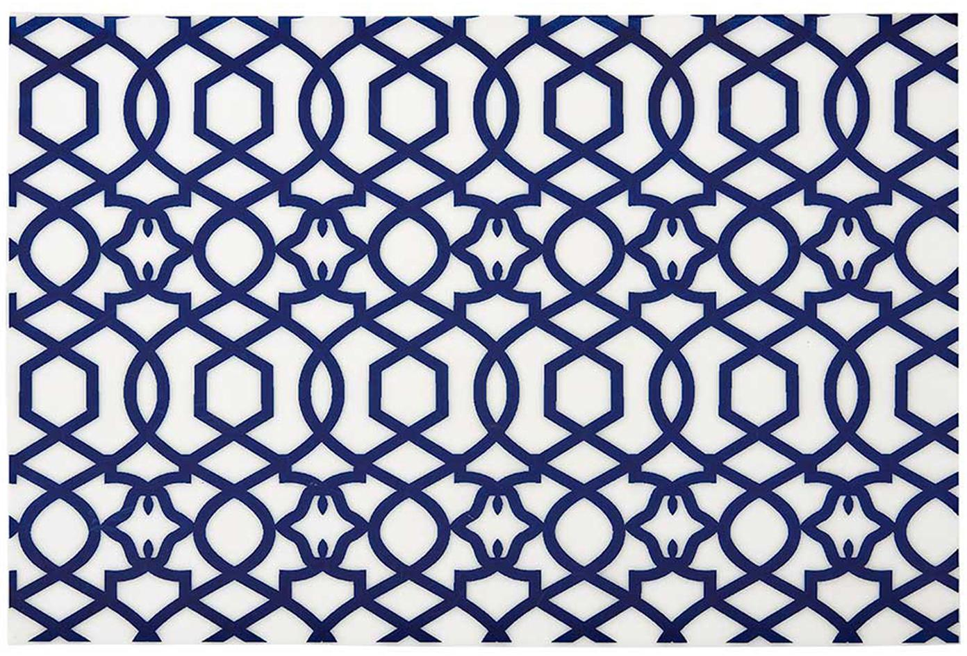 Tovaglietta americana Tropic 4 pz, Materiale sintetico (PVC), Blu scuro, Larg. 30 x Lung. 45 cm