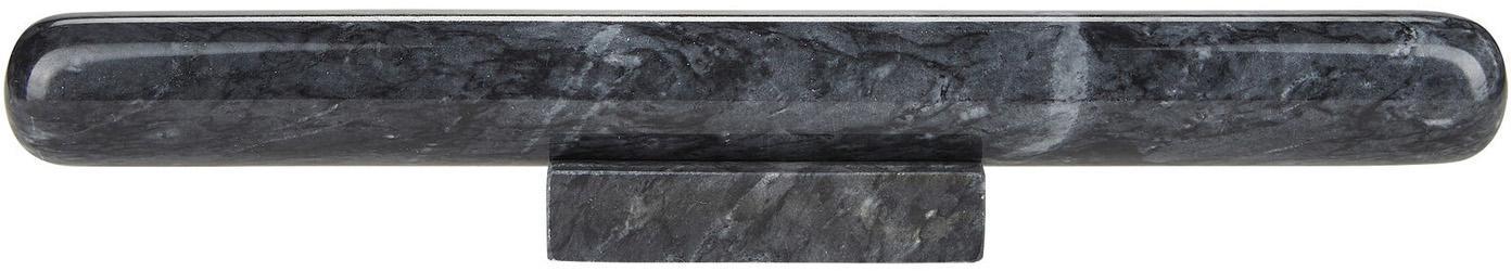 Rodillo de mármol con soporte Marta, Mármol, Negro, Ø 4 x L 39 cm