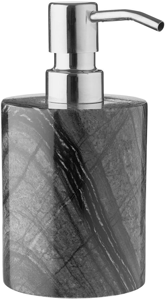 Dosificador de jabón de mármol Teren, Mármol, Negro, Ø 8 x Al 16 cm