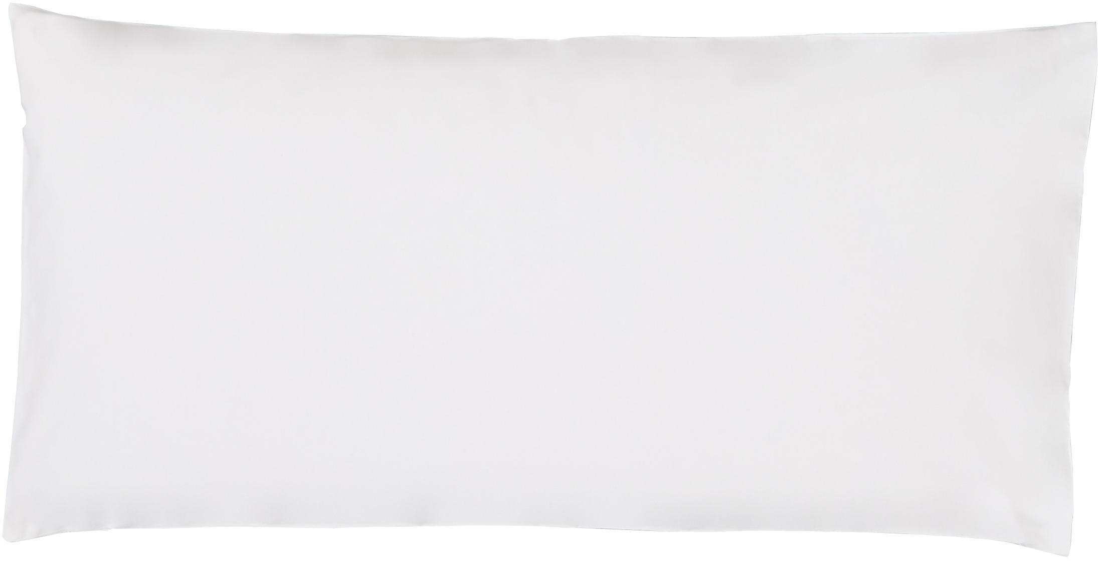 Baumwollperkal-Kissenbezüge Elsie in Weiß, 2 Stück, Webart: Perkal Fadendichte 200 TC, Weiß, 40 x 80 cm