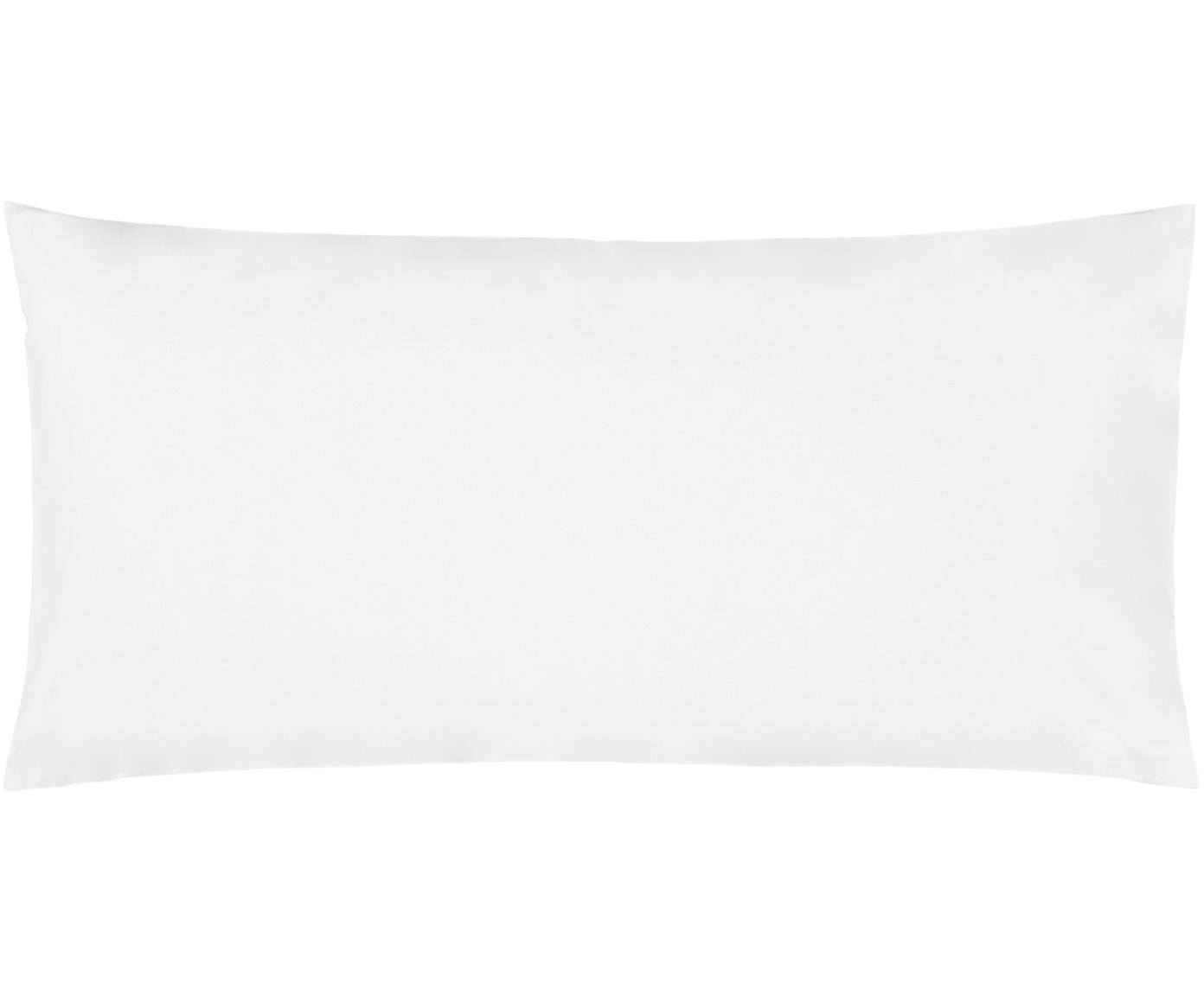 Baumwollperkal-Kissenbezüge Elsie in Weiss, 2 Stück, Webart: Perkal Fadendichte 200 TC, Weiss, 40 x 80 cm