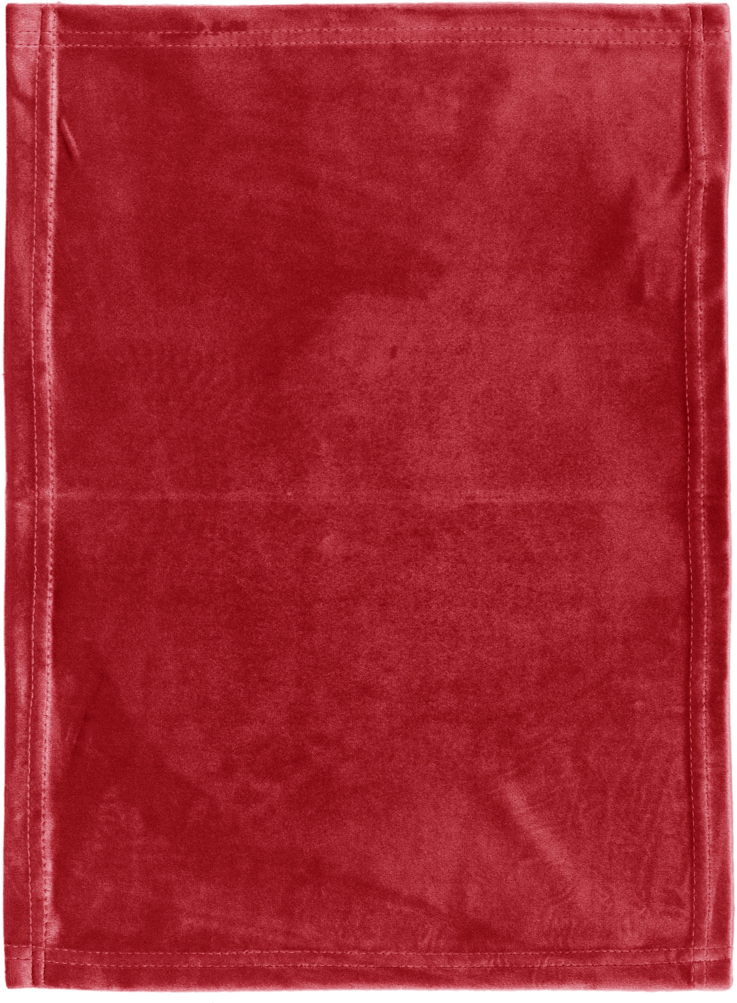 Samt-Tischsets Simone, 2 Stück, 100% Polyestersamt, Rot, 35 x 45 cm