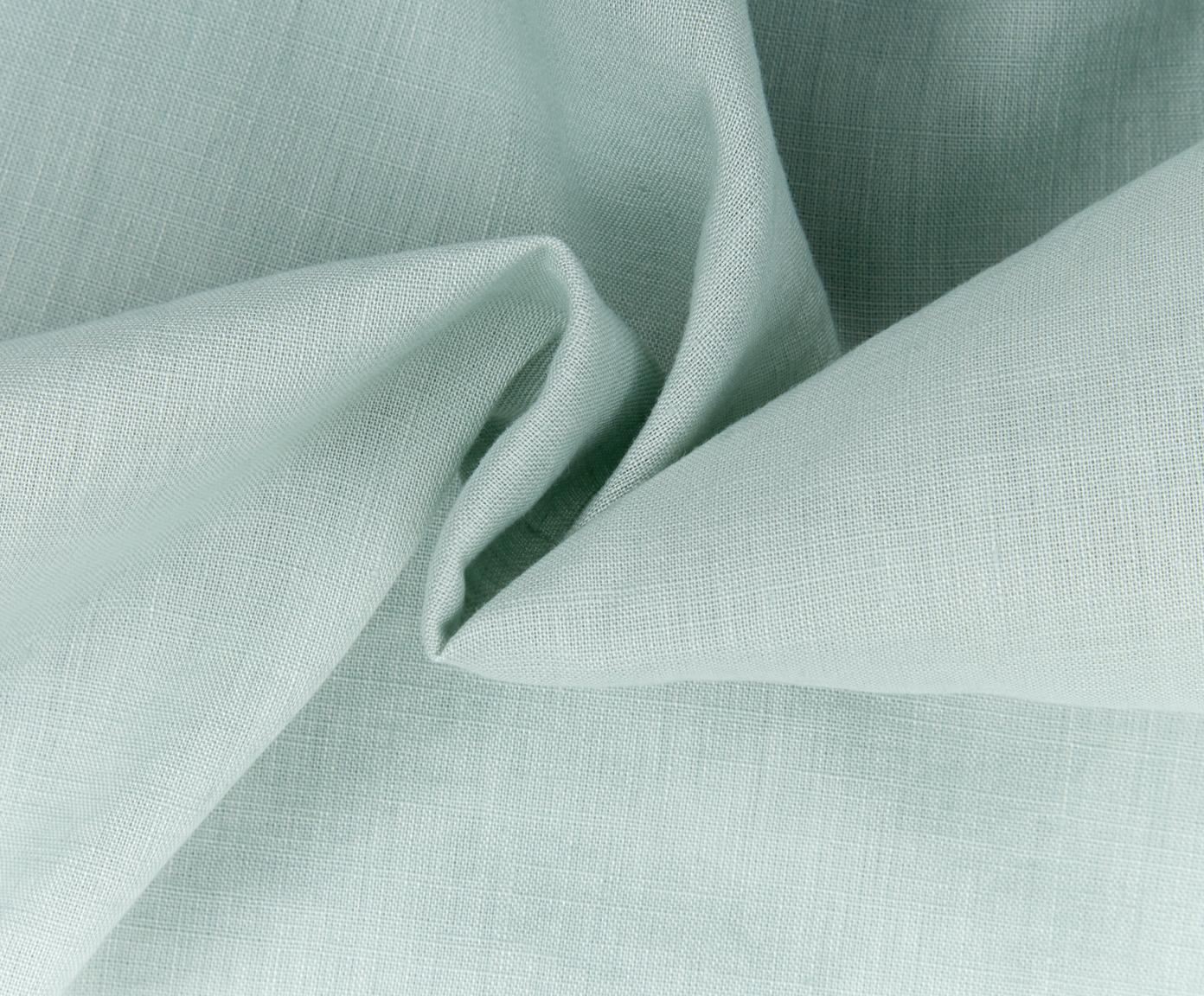 Dubbelzijdige linnen dekbedovertrek Natural met onderzijde van perkal, Bovenzijde: 65% linnen, 35% katoen, Onderzijde: katoen, Weeftechniek: perkal Draaddichtheid 200, Jadegroen, 240 x 220 cm