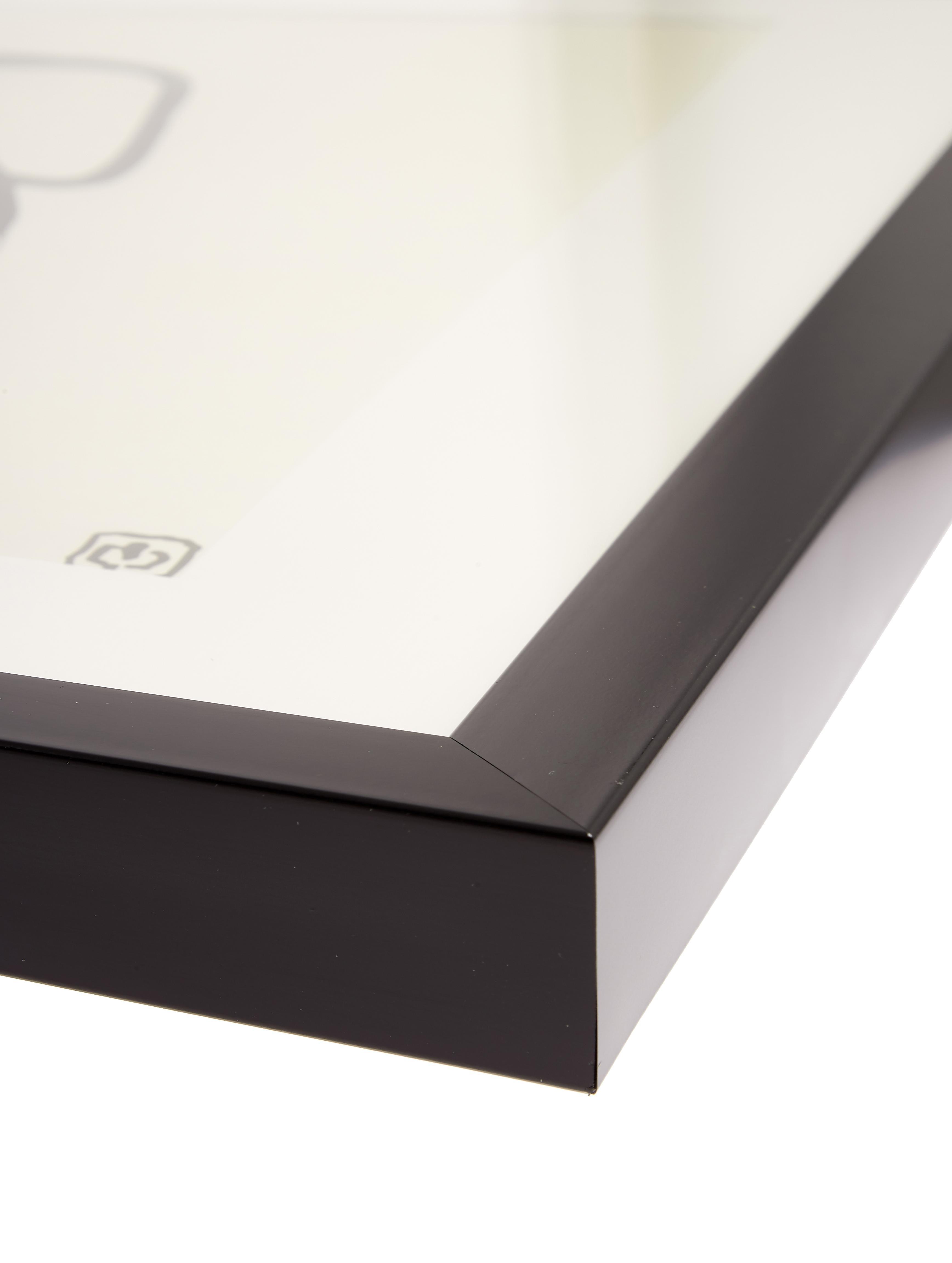 Stampa digitale incorniciata Akt Lady III, Immagine: stampa digitale, Cornice: materiale sintetico, Immagine: nero, beige<br>Cornice: nero, L 40 x A 40 cm