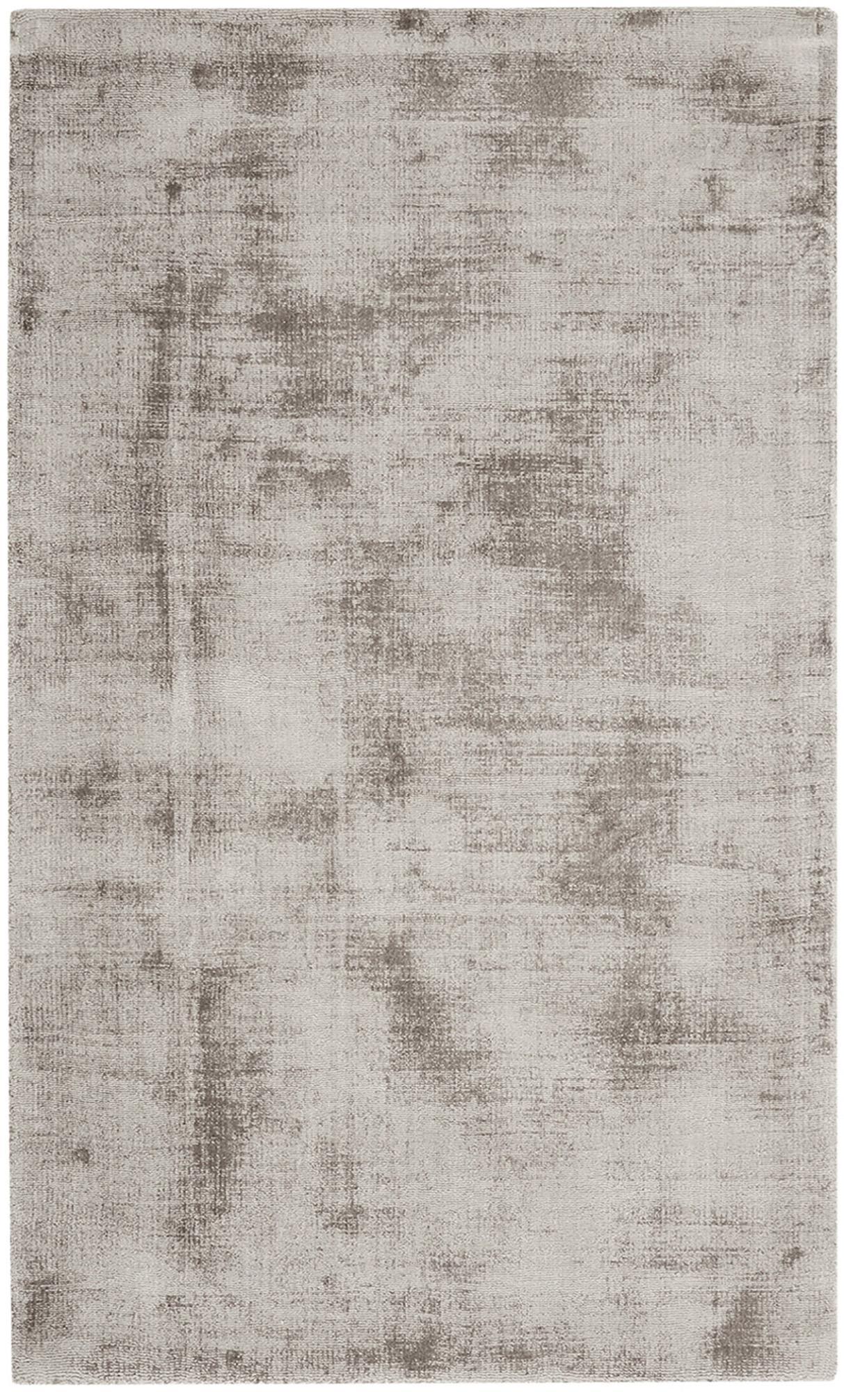 Handgewebter Viskoseteppich Jane in Taupe, Flor: 100% Viskose, Taupe, B 90 x L 150 cm (Größe XS)
