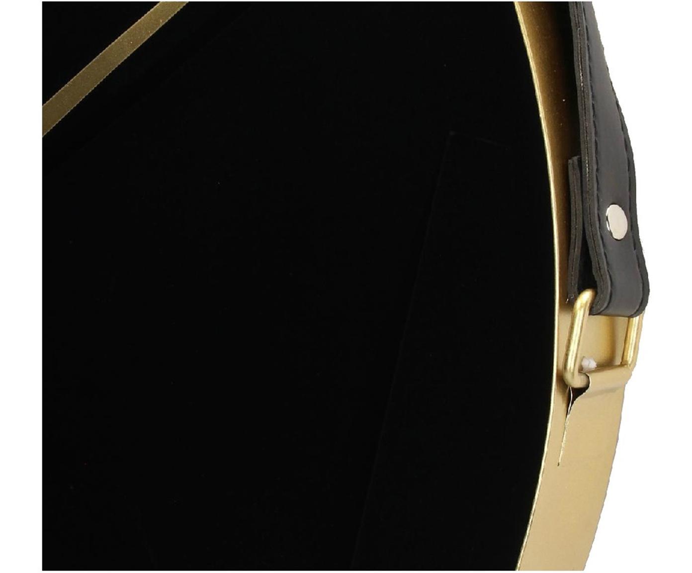 Wanduhr Liva, Metall, beschichtet, Schwarz, Goldfarben, 60 x 94 cm