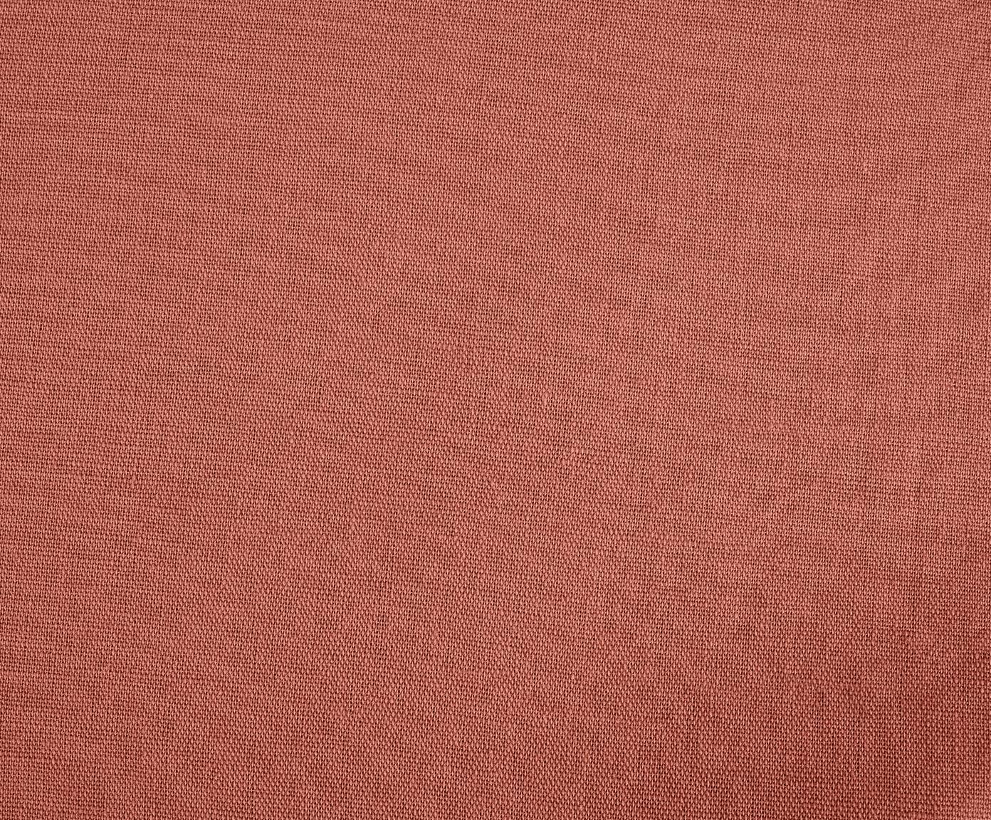 Pościel z lnu z efektem sprania Nature, Terakota, 135 x 200 cm