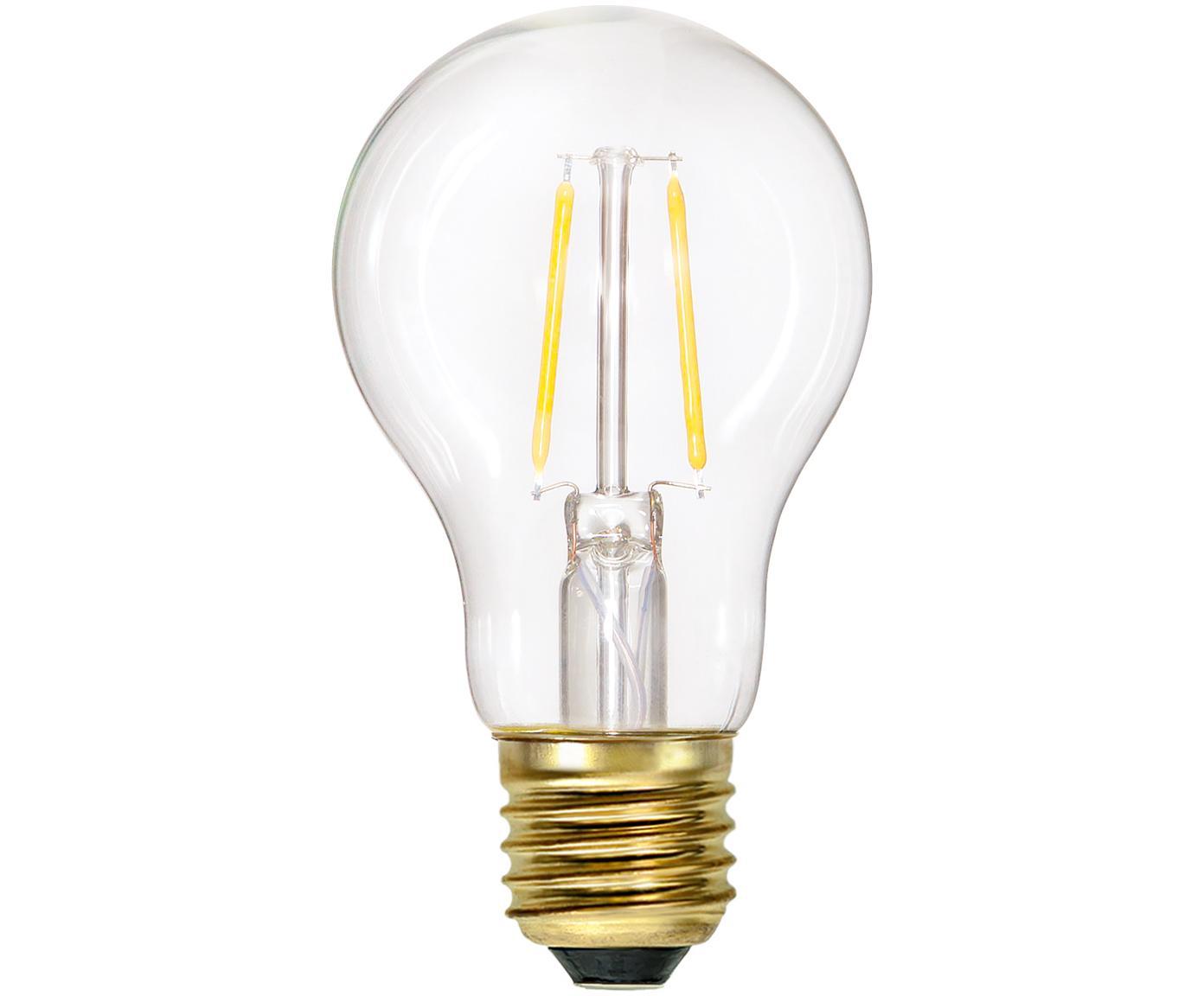 Bombilla LED Airtight Stream (E27/1,6W), Ampolla: vidrio, Casquillo: latón, Transparente, latón, Ø 6 x Al 11 cm