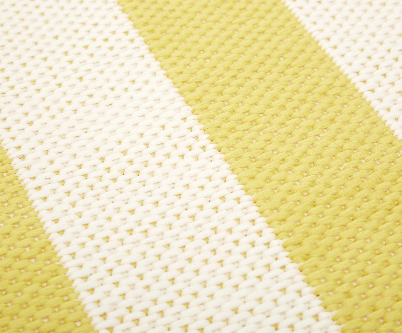 Tappeto da interno-esterno a righe Axa, Retro: poliestere, Bianco crema, giallo, Larg. 200 x Lung. 290 cm (taglia L)
