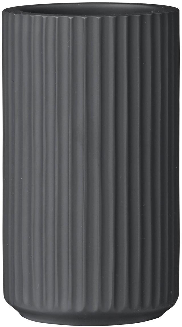 Zahnputzbecher Marlena, Polyresin, Dunkelgrau, Ø 7 x H 11 cm