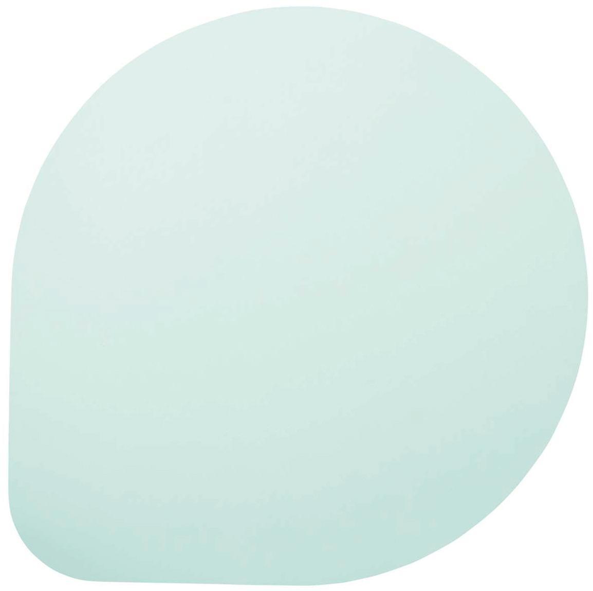 Manteles individuales de cuero sintético Povac, 2uds., Plástico (PVC), Verde menta, Ø 37 cm