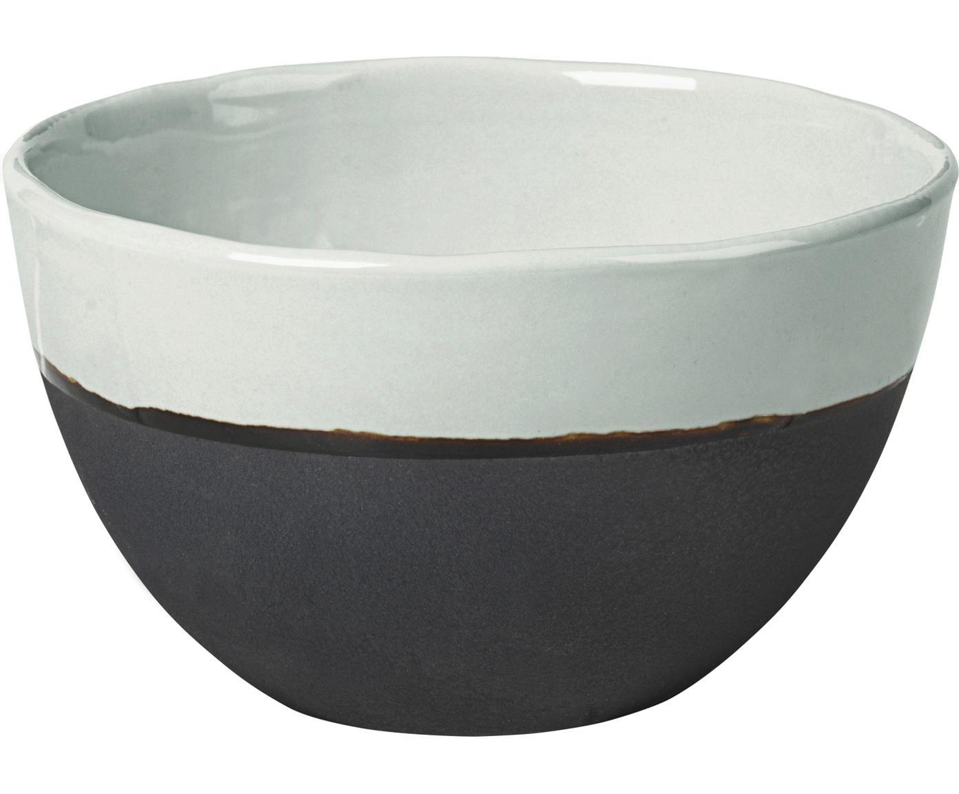 Ciotola fatta a mano Esrum 4 pz, Sotto: terracotta, naturale, Avorio, marrone grigio, Ø 14 x Alt. 9 cm