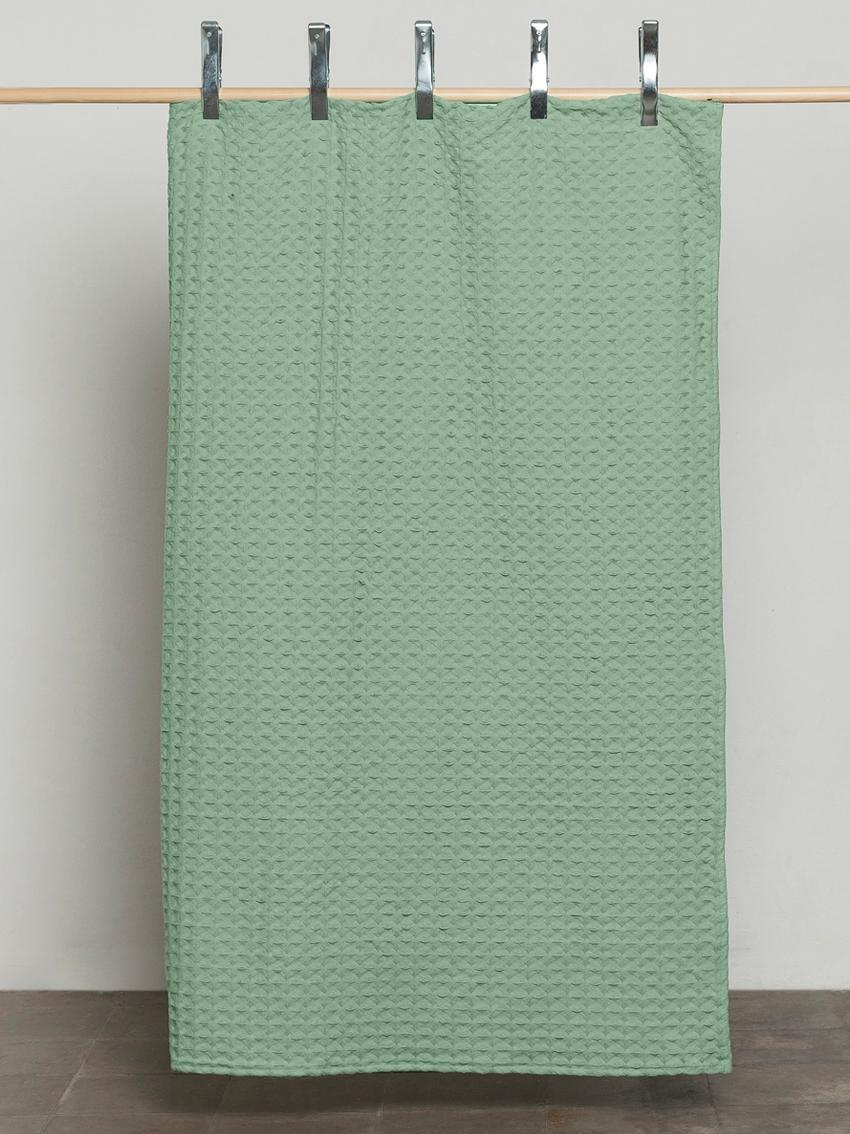 Waffelpiqué-Tagesdecke Panal, 100% Baumwolle, Grün, 180 x 260 cm