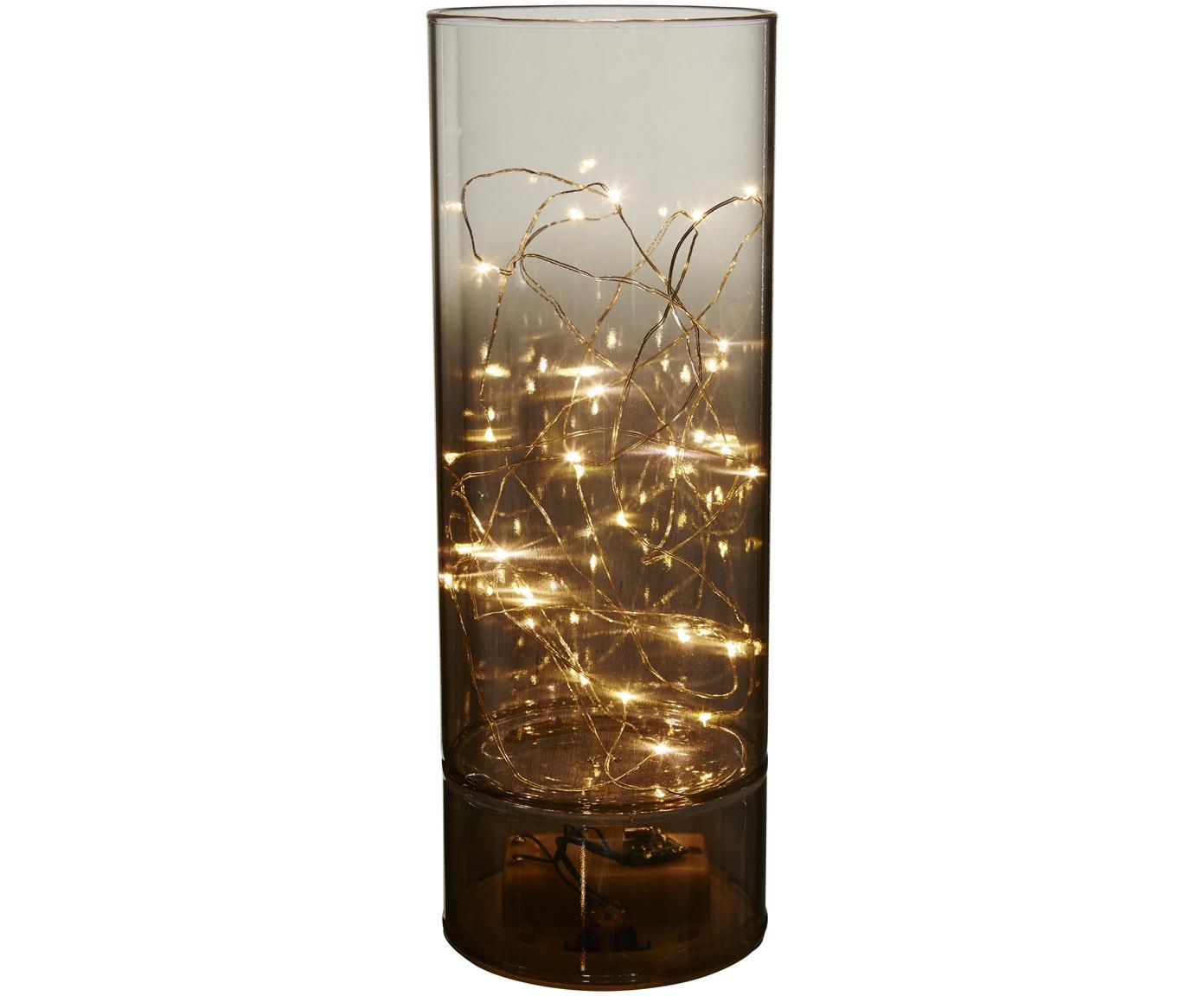 Lámpara decorativa Mirror Tube, Lámpara: vidrio, Parte inferior: metal, recubierto, Gris, Ø 9 x Al 25 cm