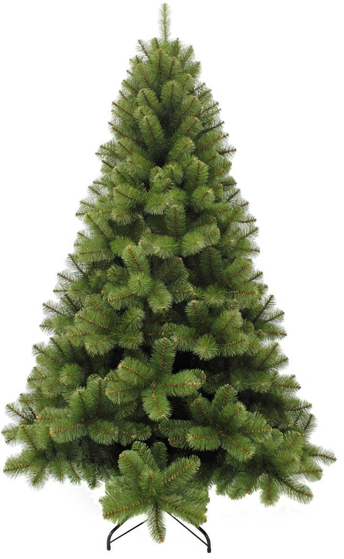 Albero di Natale artificiale Rochdale, Verde, Ø 132 x Alt. 215 cm