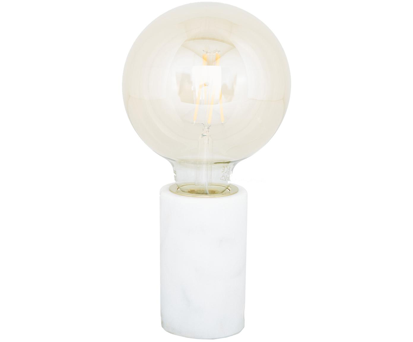 Kleine Marmor-Tischleuchte Siv, Marmor, Weiß, Ø 6 x H 10 cm
