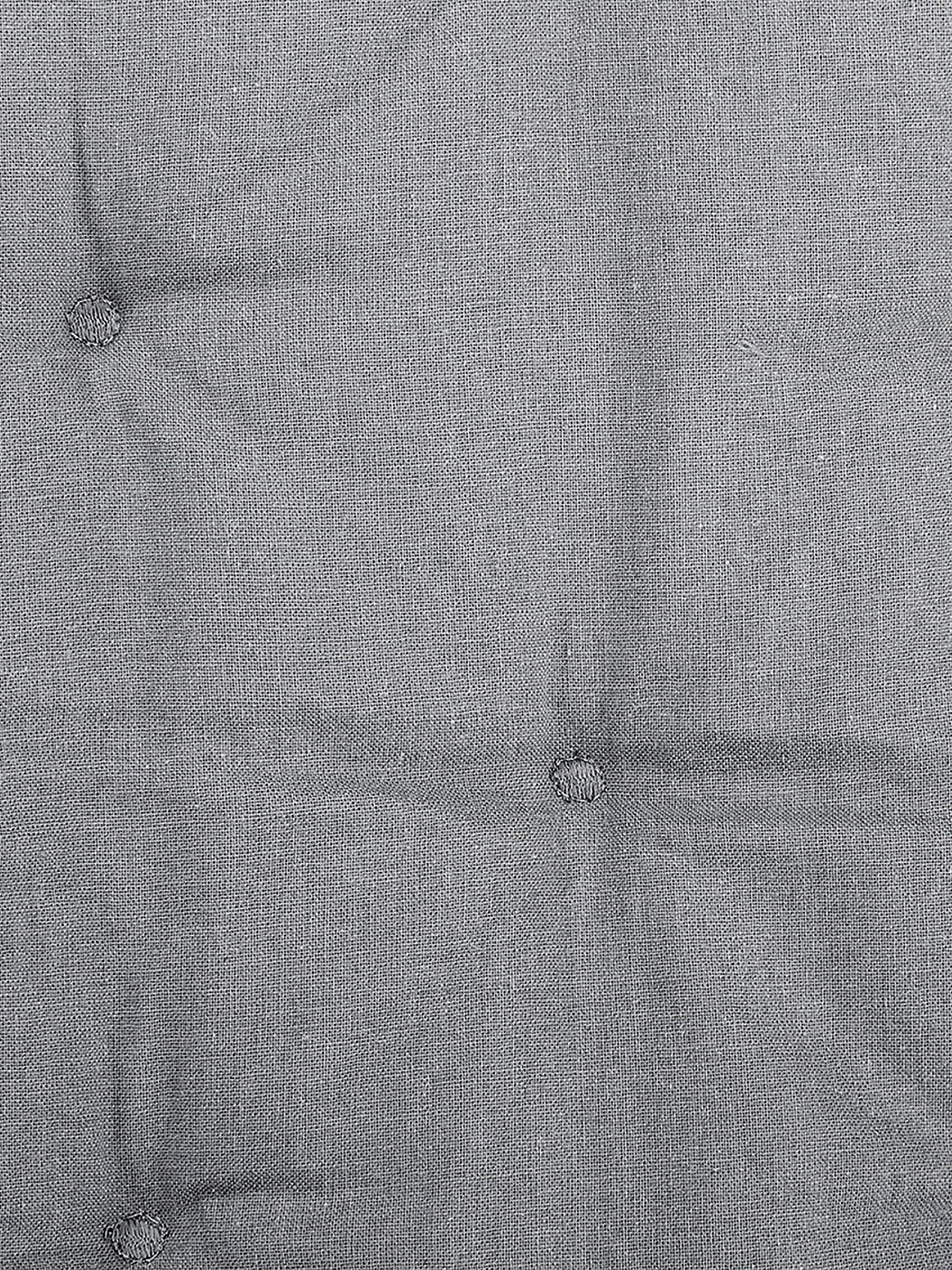 Watowana narzuta z aksamitu Cheryl, Szary, S 160 x D 220 cm