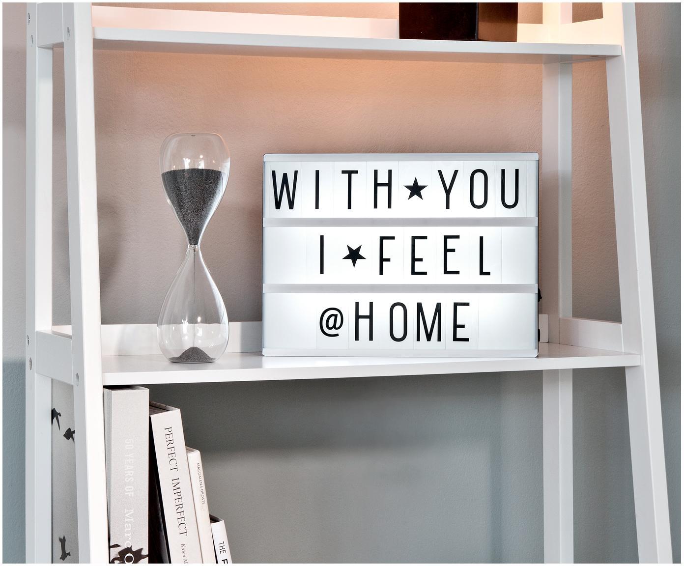 Panneau d'affichage lumineux à LED A4, Blanc, noir