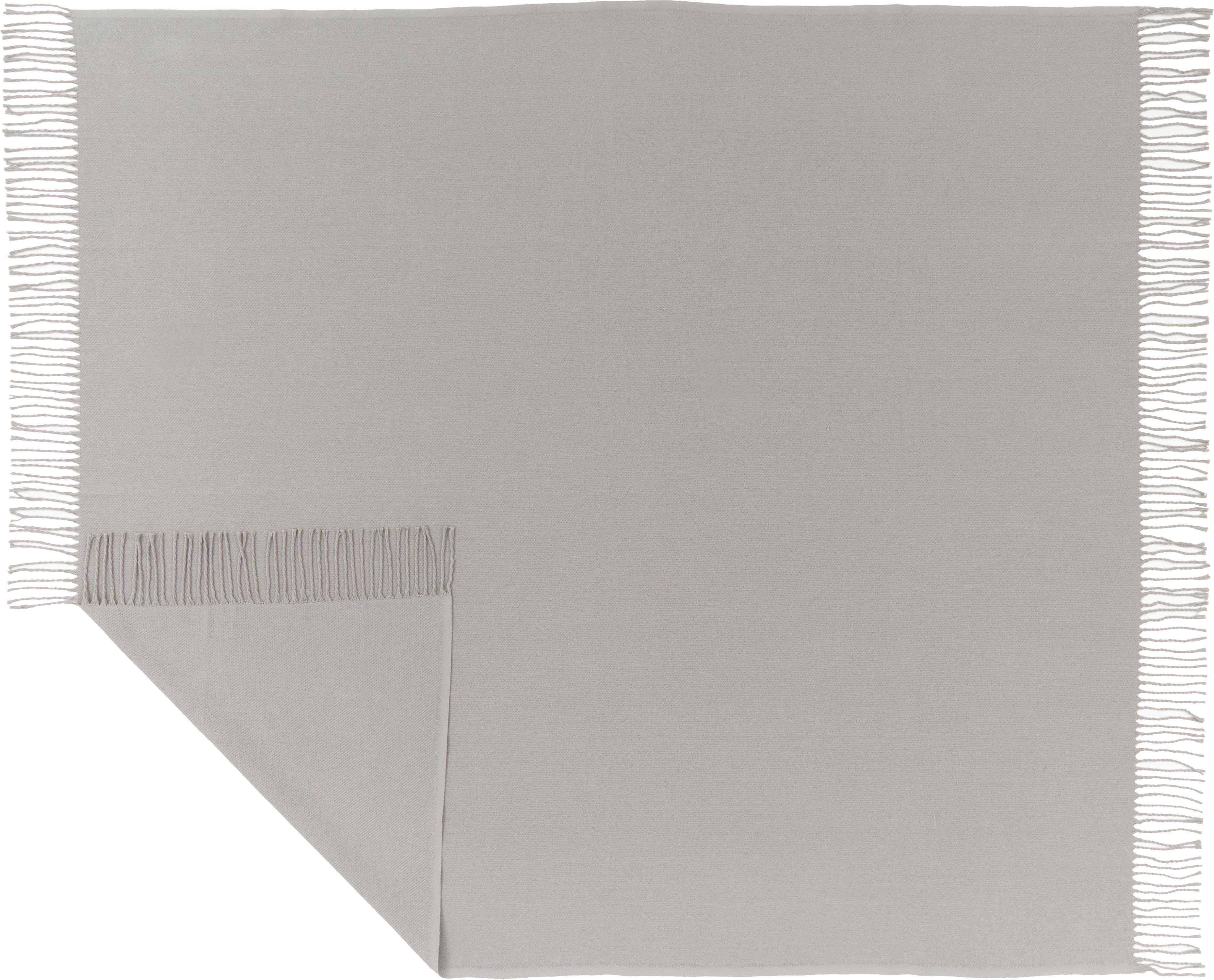 Manta Madison, 100%algodón, Gris claro, An 130 x L 170 cm