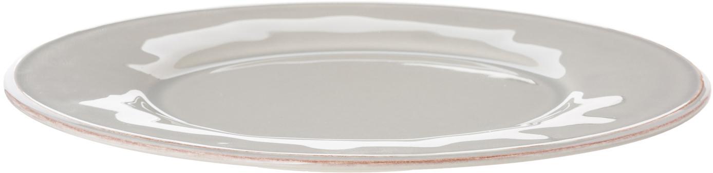Dinerborden Constance, 2 stuks, Keramiek, Lichtgrijs, Ø 29 cm