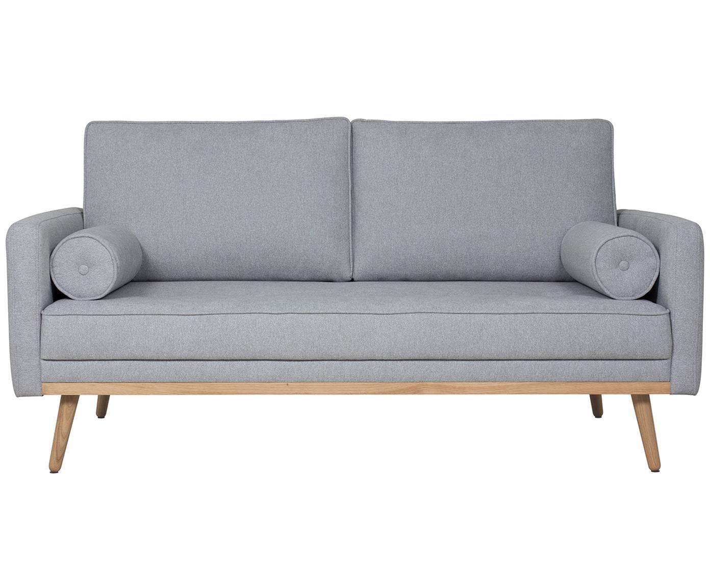 Sofa Saint (2-Sitzer), Bezug: Polyester 50.000 Scheuert, Gestell: Massives Kiefernholz, Spa, Webstoff Blaugrau, B 169 x T 93 cm