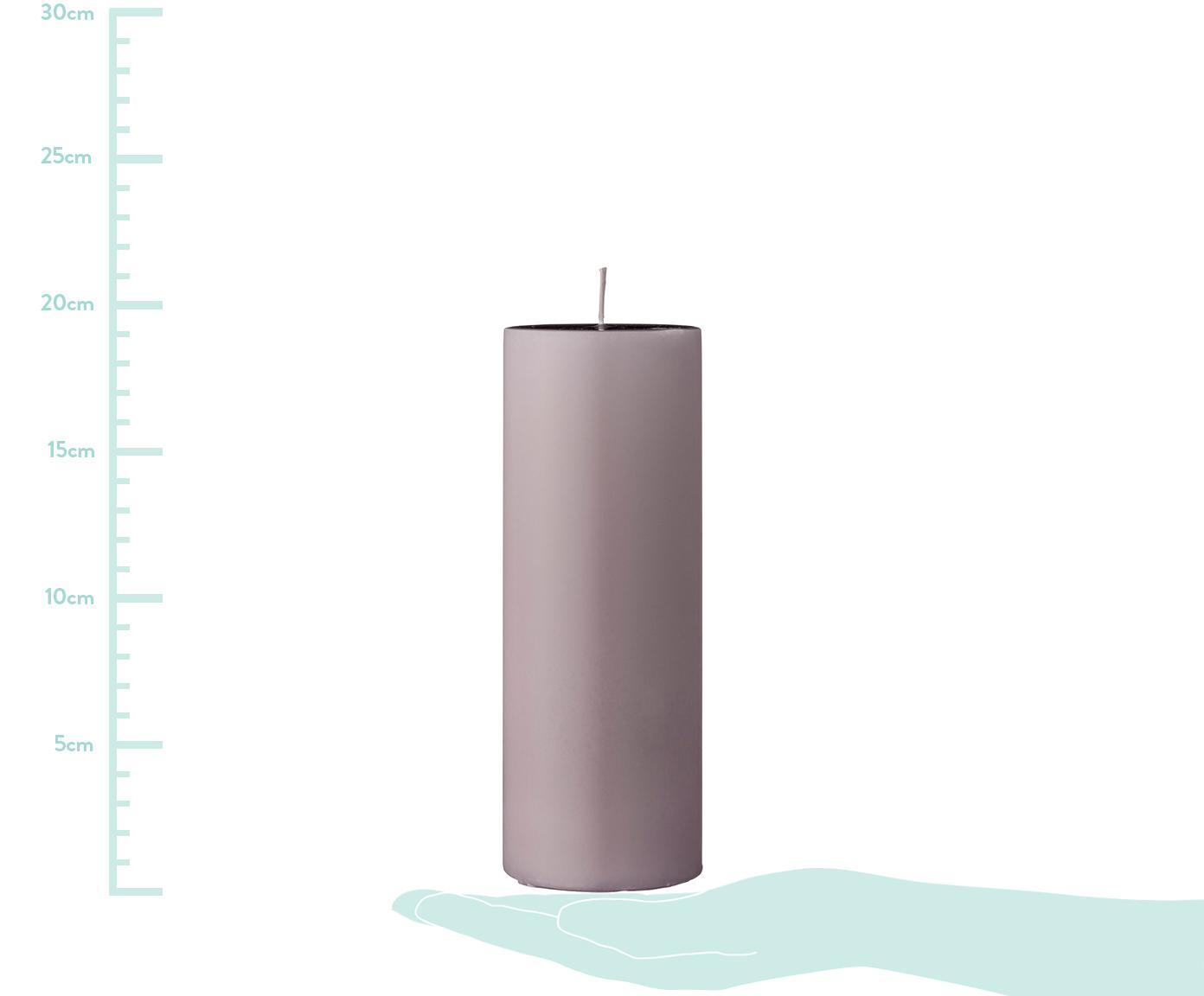 Vela pilar Lulu, Cera, Rosa, Ø 7 x Al 20 cm