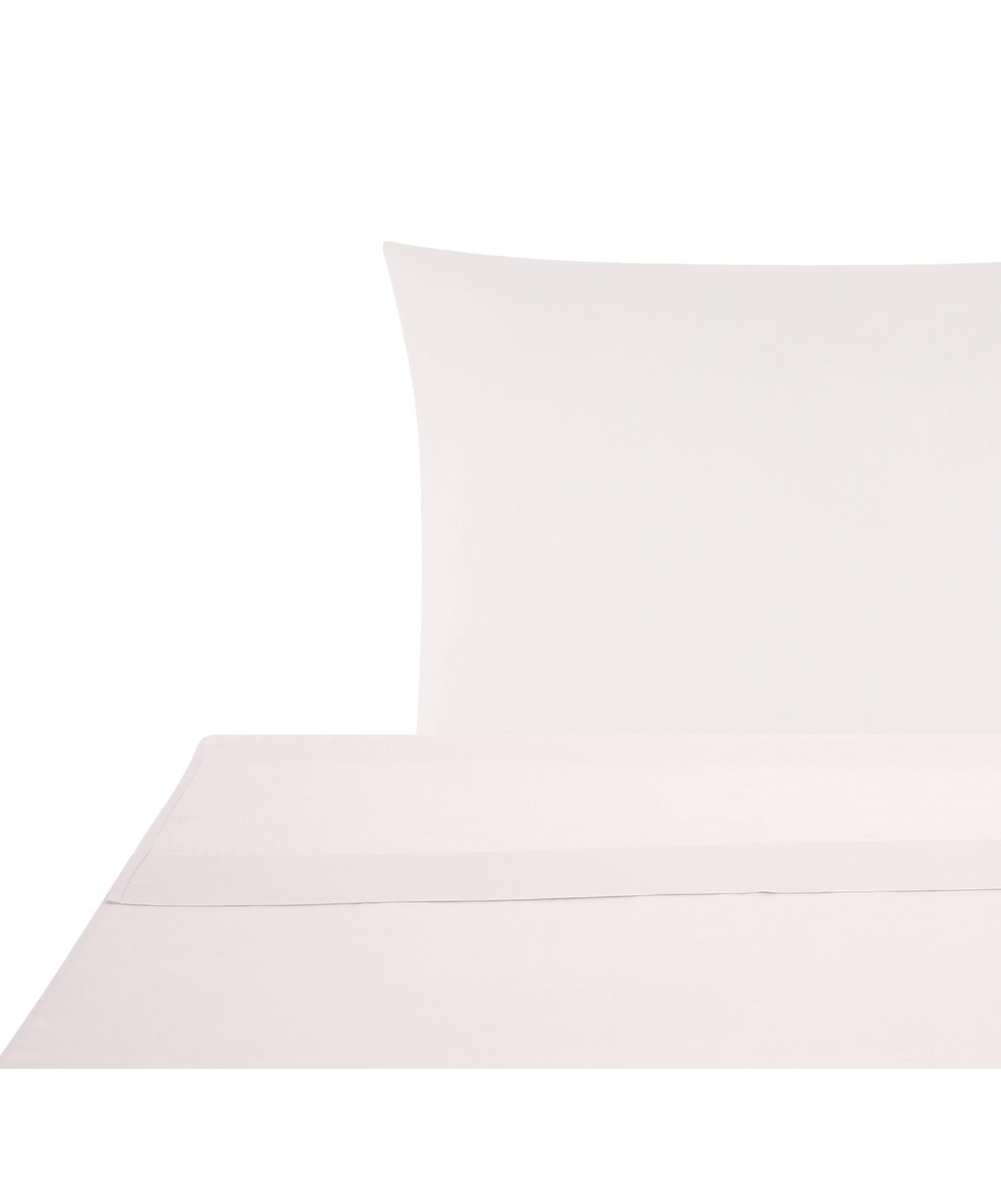 Set lenzuola in raso di cotone Comfort 2 pz, Tessuto: raso Densità del filo 250, Rosa, 150 x 300 cm