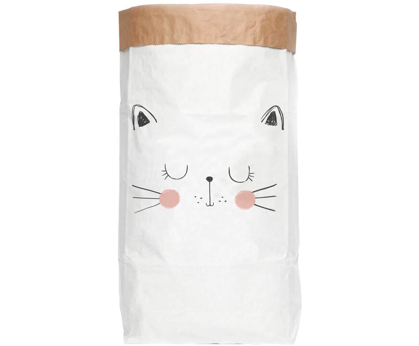 Torba do przechowywania Cat, Papier recyklingowy, Biały, czarny, blady różowy, S 60 x W 90 cm