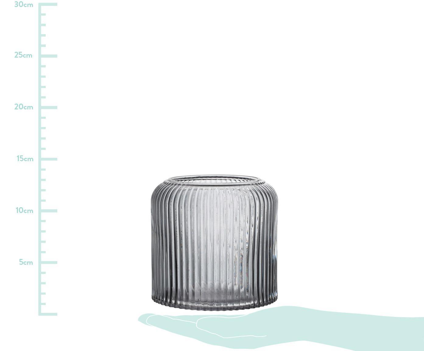 Osłonka na doniczkę Clear, Szkło, Szary, transparentny, Ø 15 x W 13 cm