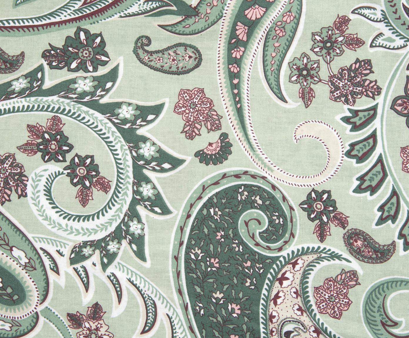 Pościel z bawełny renforcé Liana, Zielony, wielobarwny, 240 x 220 cm
