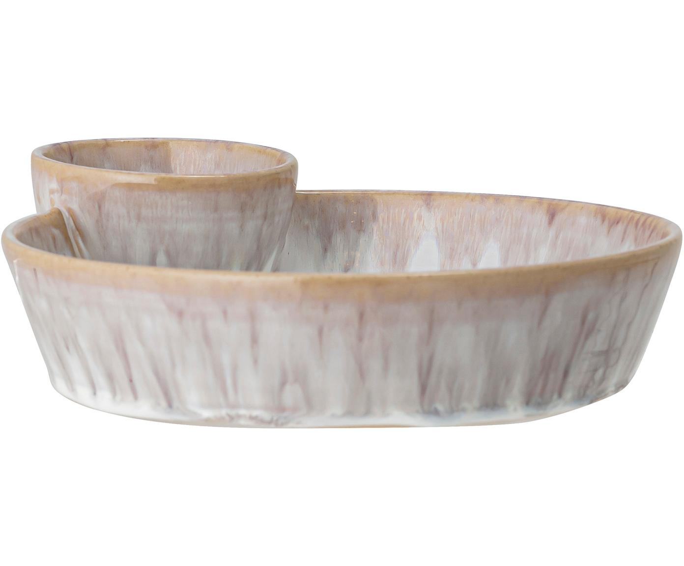 Ciotola fatta a mano Caya, Terracotta, Beige, Larg. 24 x Alt. 4 cm