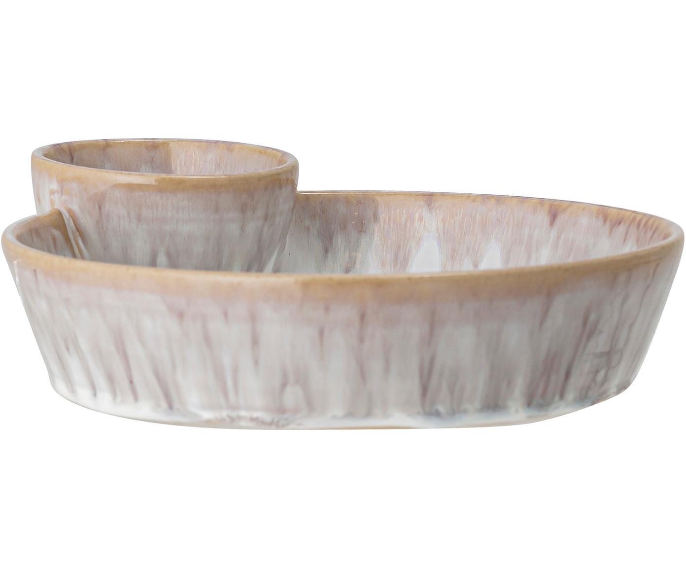 Handgemaakte schaal Caya, Keramiek, Beige, 24 x 4 cm