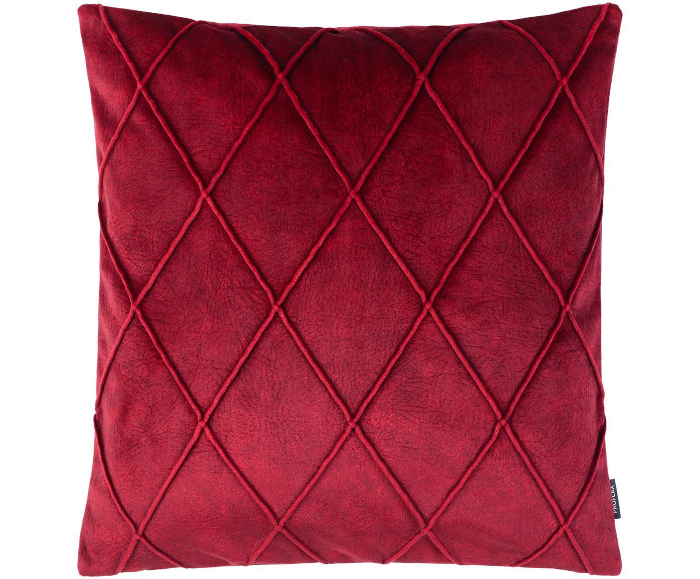 Poszewka na poduszkę Combo, Poliester, Ciemny czerwony, S 40 x D 40 cm