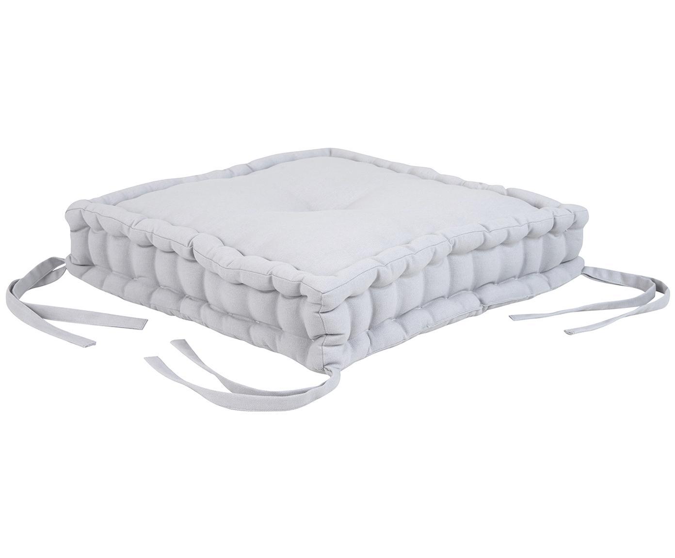 Poduszka na siedzisko Kiara, Jasny szary, S 45 x D 45 cm