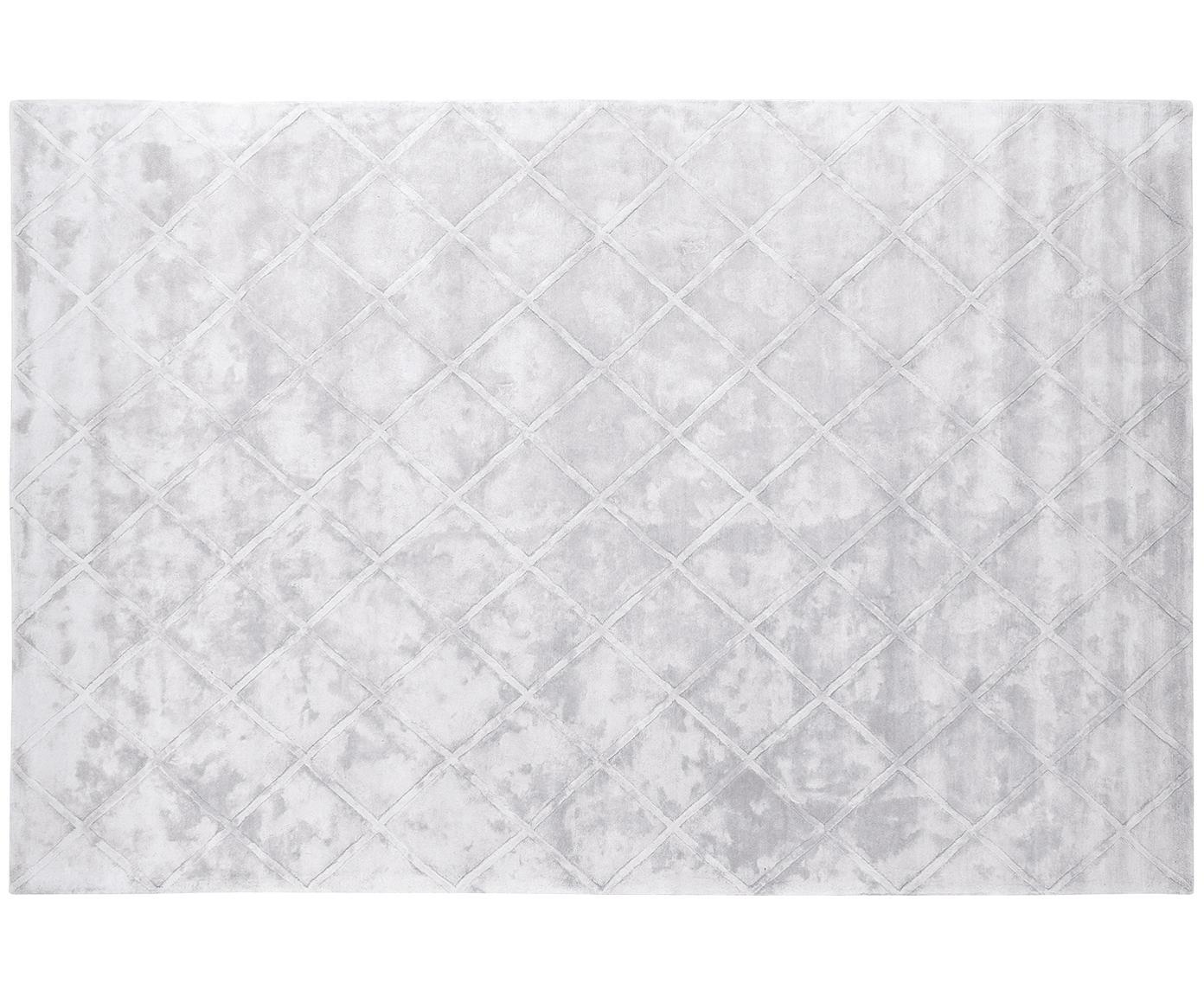 Ręcznie tuftowany dywan z wiskozy Shiny, Jasny srebrnoszary, S 200 x D 300 cm (Rozmiar L)