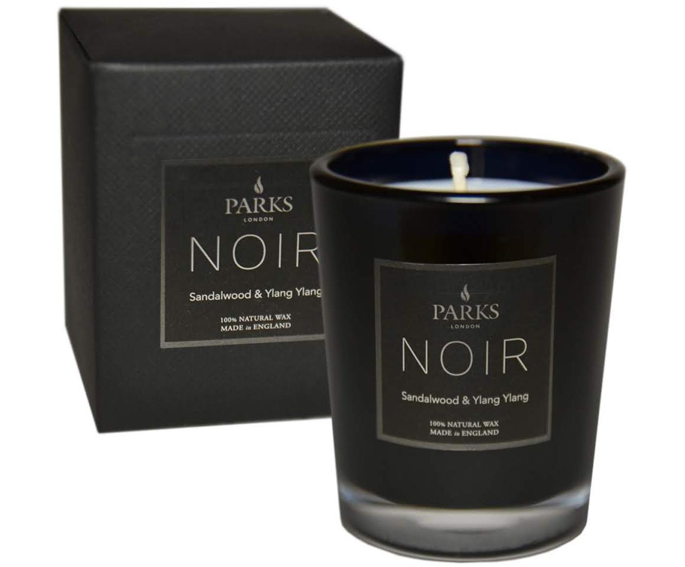 Vela perfumada Noir (madera de sándalo y ylang-ylang), Recipiente: vidrio, Negro, Ø 5 x Al 6 cm