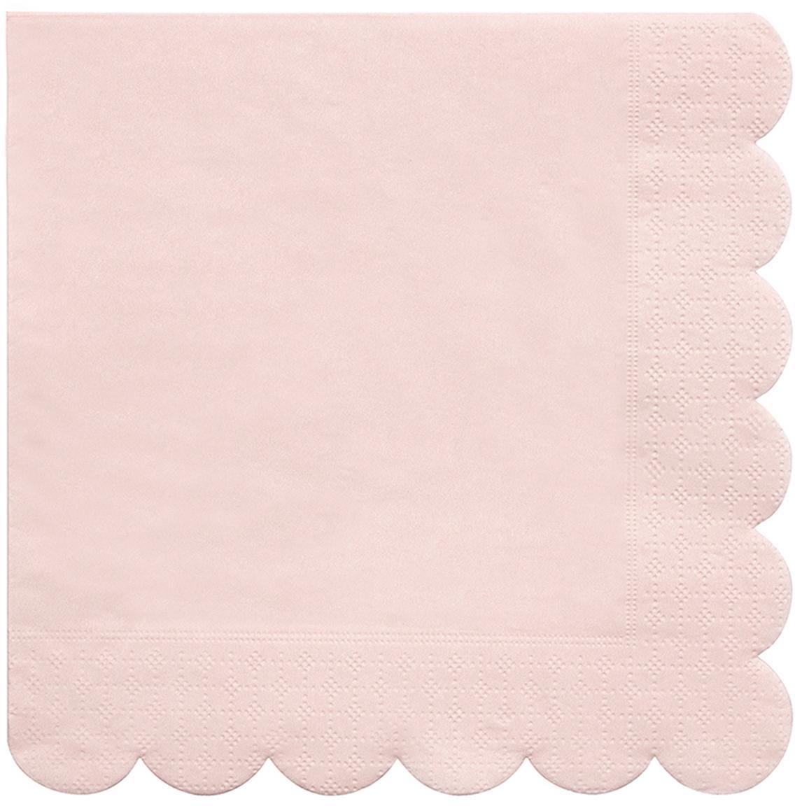 Papieren servetten Simply Eco, 20 stuks, Papier, Roze, 33 x 33 cm