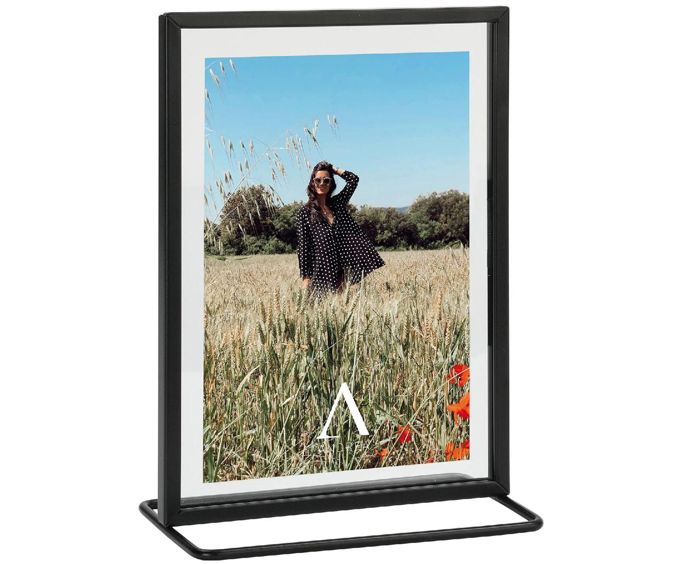 Cornice foto Memo, Cornice: metallo rivestito, Nero, 13 x 18 cm