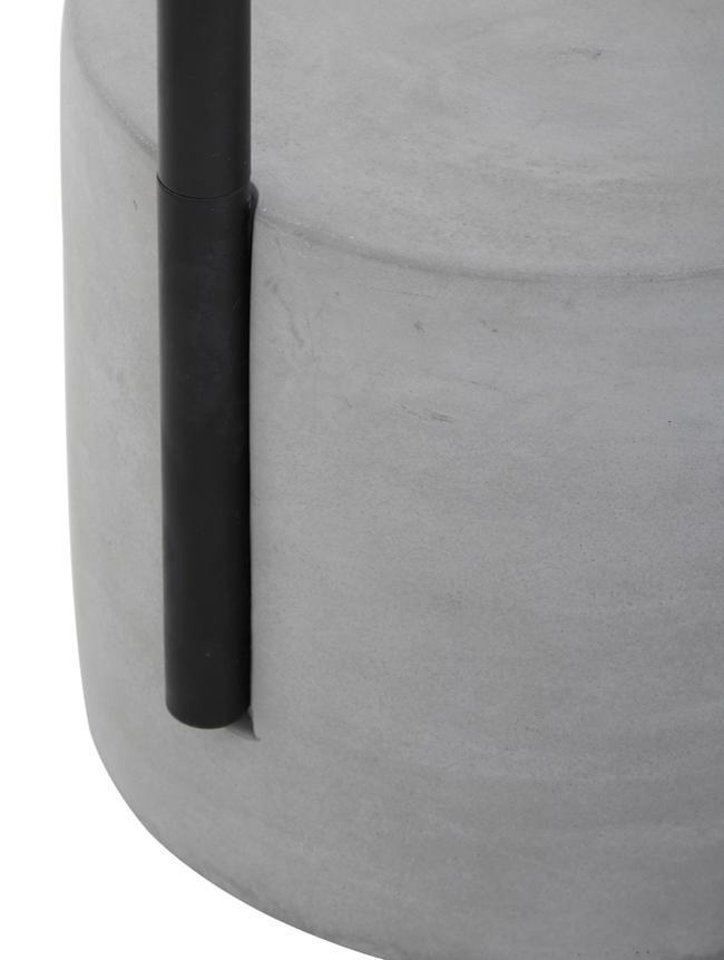 Stehlampe Pipero mit Betonfuß, Lampenschirm: Textil, Gestell: Metall, pulverbeschichtet, Lampenfuß: Beton, Lampenschirm:WeißLampenfuß:Schwarz, matt, GrauKabel: Schwarz, Ø 45 x H 161 cm